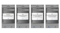 les 4 boites de dialogue lors de la première utilisation de l'application