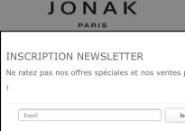 Page d'accueil Jonak pour mobile